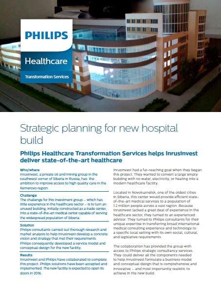Strategic planning in healthcare | Philips Healthcare